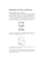 Shubnikov-de Haas oscillations