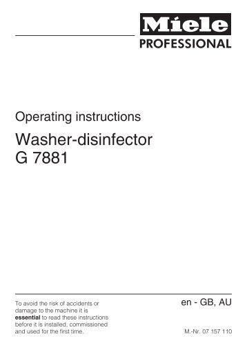 Washer-disinfector G 7881