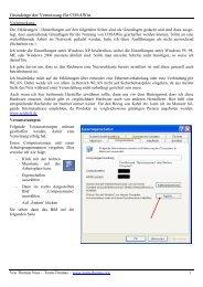 Grundlagen der Vernetzung (pdf - Thomas Nuss) - bei COSA-Software