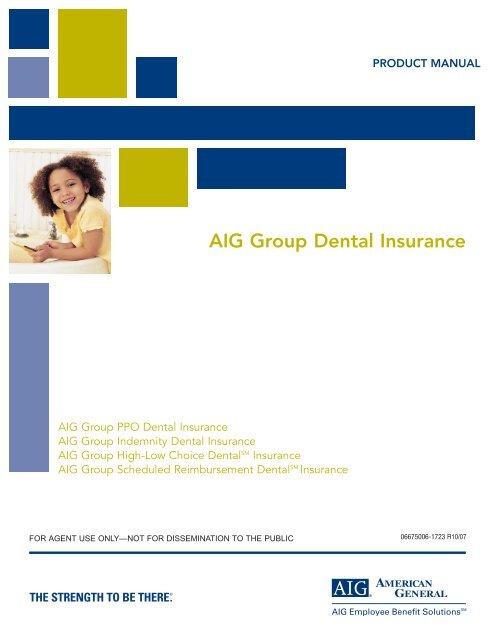 Dental Product Manual 10 07 American General Life