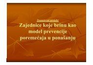 Zajednice koje brinu kao model prevencije poremećaja u ponašanju