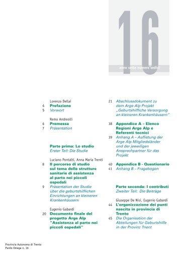 Lorenzo Dellai 4 Prefazione 5 Vorwort Remo ... - Trentino Salute