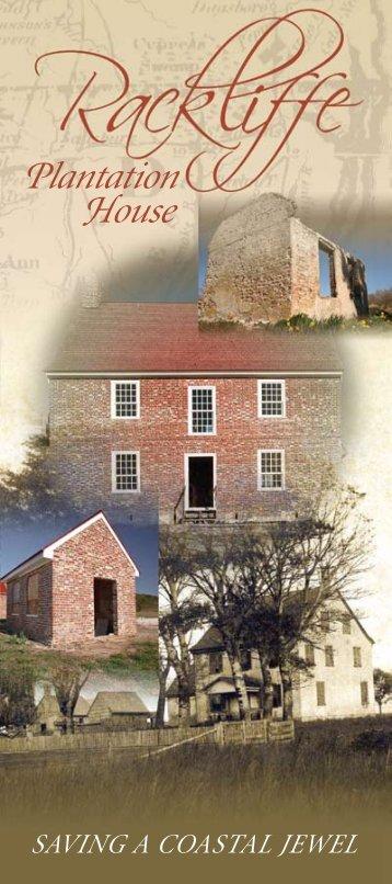 Download a PDF about Rackliff Plantation House. - Worcester ...