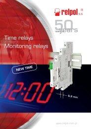 Time relays Monitoring relays - Relpol SA