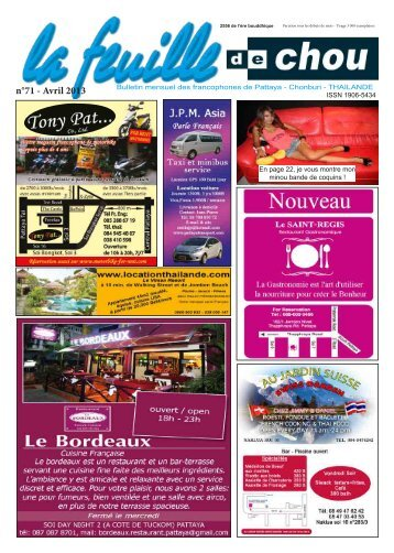 n°71 - Avril 2013 - La feuille de chou