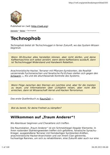 Technophob A4 - Ein Würfel System