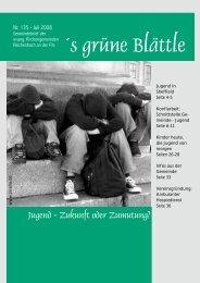 ´s grüne Blättle - evangelisch-reichenbach.de