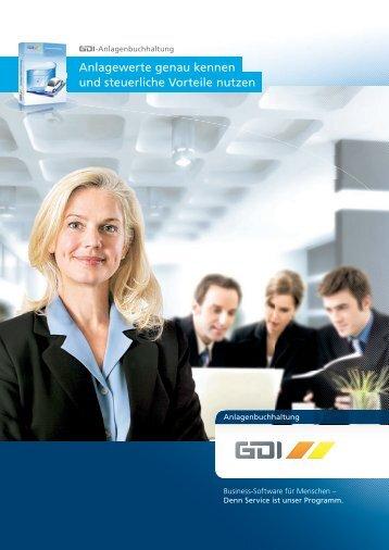 Anlagewerte genau kennen und steuerliche Vorteile ... - GDI Software
