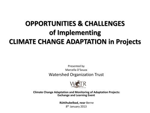 WOTR - SDC Climate Change and Environment Network