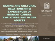 caring and cultural relationships: experiences of older ... - COMPAS