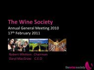 2010 AGM Presentation - The Wine Society