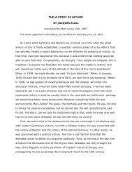 JACQUES ELLUL – THE VICTORY OF HITLER - Jesus Radicals