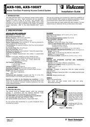 AXS-100, AXS-100XT - Visonic Technologies