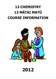 Course Booklet - Kapiti College