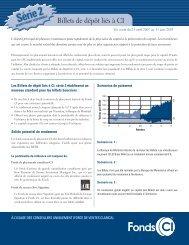 Billets de dépôt liés à CI - CI Investments