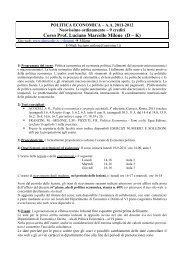 Corso Prof. Luciano Marcello Milone (D – K) - Dipecodir.it