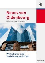Neues von Oldenbourg - Oldenbourg Verlag