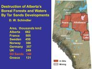 Destruction of Alberta's Boreal Forests and Waters By Tar ... - WWF