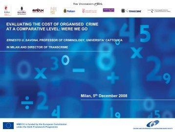 EVALUATING THE COST OF ORGANISED CRIME AT ... - Transcrime