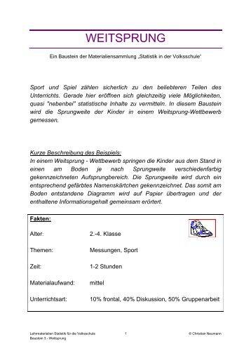 WEITSPRUNG - Stat4U