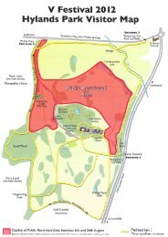 V Festival 20l2 Hylands Park Visitor Map - Chelmsford Borough ...
