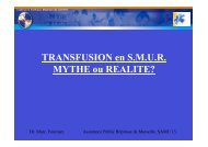transfusion mythe ou realité - SMUR BMPM