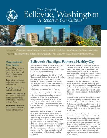 Report to Our Citizens - City of Bellevue