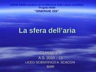 La sfera dell' aria - Scuola Media Statale MICHELANGELO