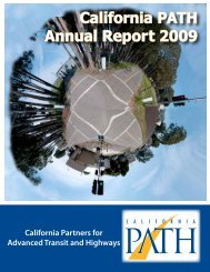 PATH Annual Report - California PATH - University of California ...