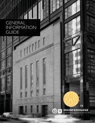 GENERAL INFORMATION GUIDE - Design Exchange