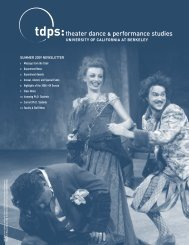 SUMMER 2009 NEWSLETTER - Theater, Dance, and Performance ...