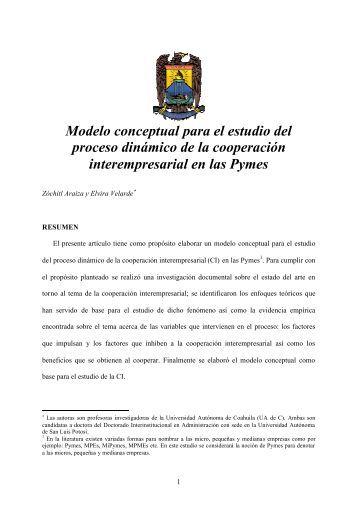 Modelo conceptual para el estudio del proceso dinámico - Colparmex