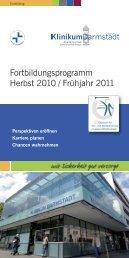 Fortbildungsprogramm Herbst 2010 / Frühjahr 2011 - Klinikum ...