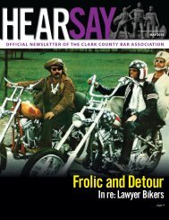 Frolic and Detour - Clark County Bar Association