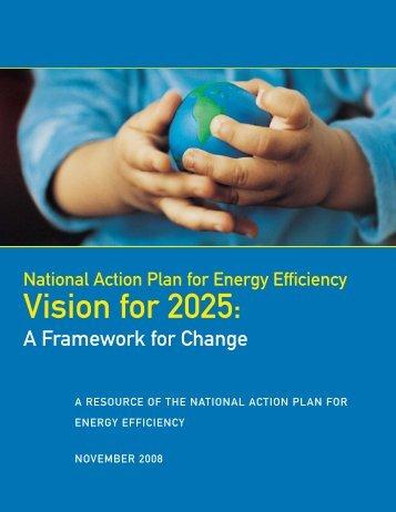 Vision for 2025: A Framework for Change - Edison Foundation
