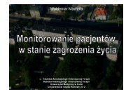 Monitorowanie pacjenta w stanie zagrożenia życia - Waldemar ...