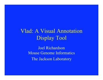 Vlad: A Visual Annotation Display Tool - The Gene Ontology