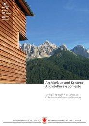 Architektur und Kontext Architettura e contesto - mwarch