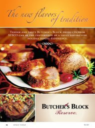 The new flavors of tradition The new flavors of tradition - Sysco