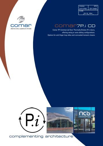 Comar 7P.i Commercial Swing Door - ecoSHOWCASE  sc 1 st  Yumpu & solutionComar