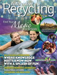 July-August 2012 - Automotive Recyclers Association