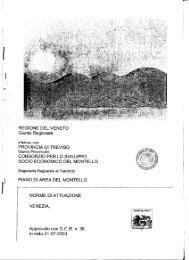 Piano di Area del Montello - PTRC Piano Territoriale Regionale di ...
