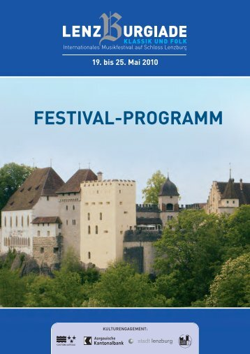 FESTIVAL-PROGRAMM - Lenzburgiade