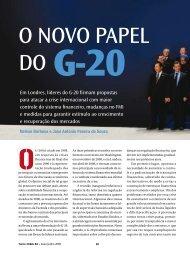 em londres, líderes do G-20 firmam propostas para atacar a crise ...