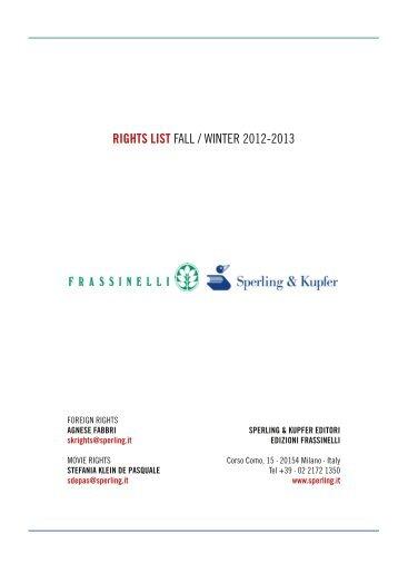 Rights list - Sperling & Kupfer