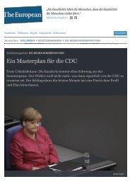 Ein Masterplan für die CDU - Richard Schütze Consult