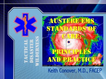 Physician Field Preparation - Keith Conover's Home Page