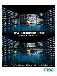 2011 Oct UAE Peoplemeter Project Update - MEC