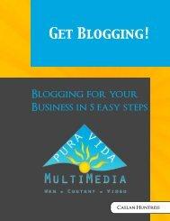 Blogging for your Business - Pura Vida MultiMedia