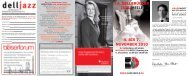 14. dellbrücker jazz-meile 4. bis 7. november 2010 - IG Treffpunkt ...
